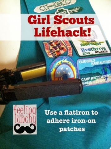 how to iron on girl guide badges