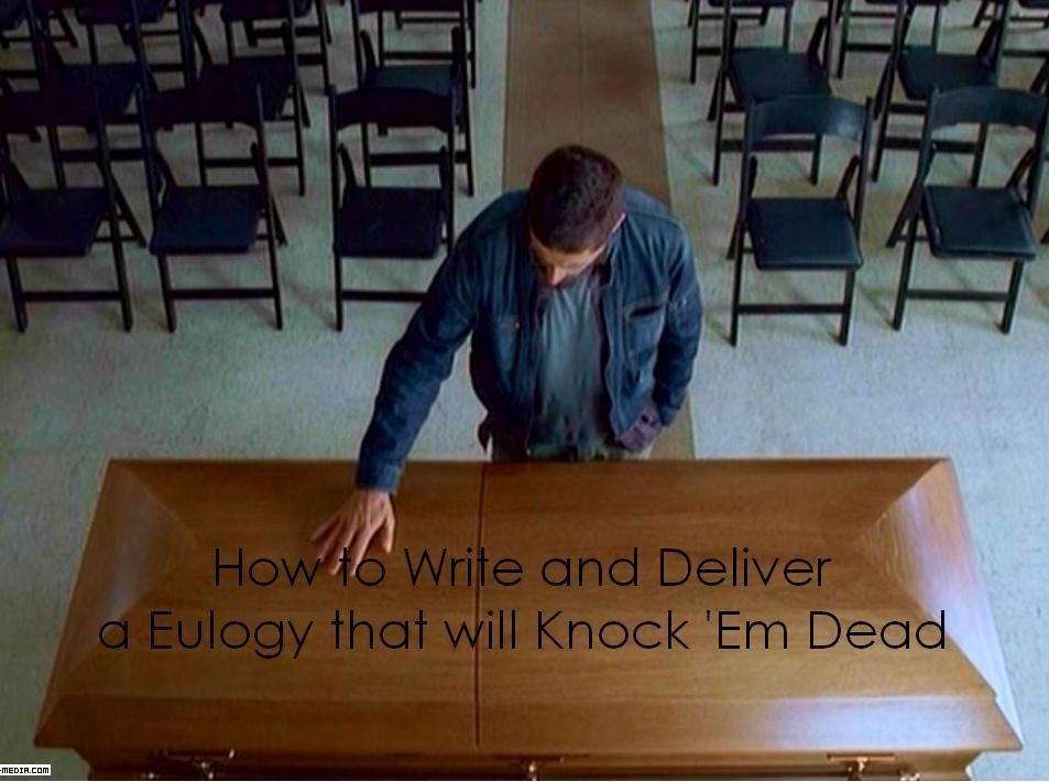 guide to writing a eulogy