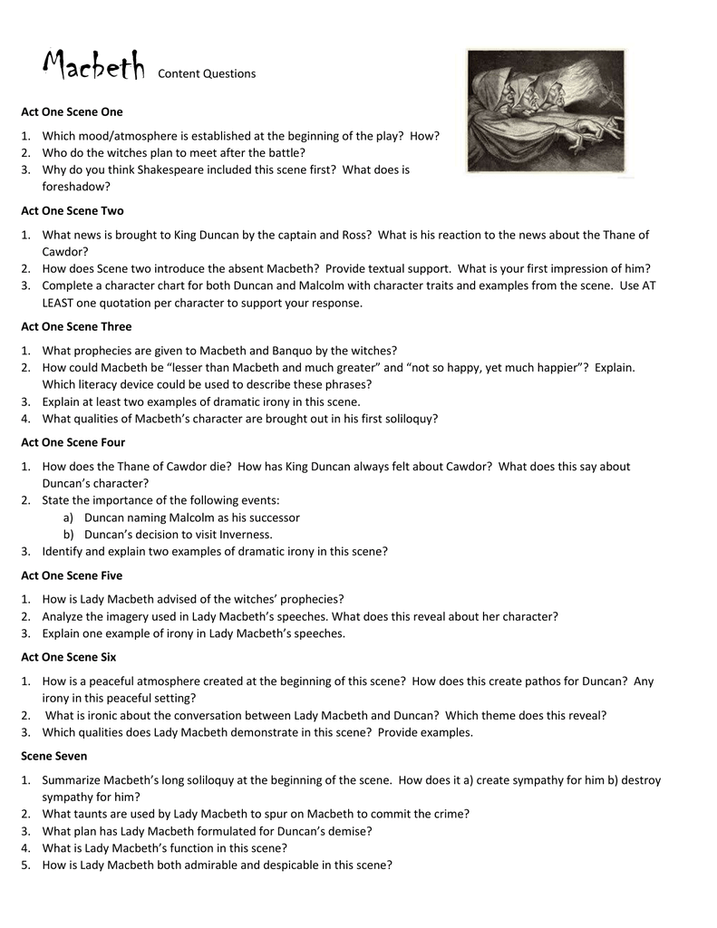 macbeth study guide answers act 4