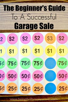 yard sale pricing guide 2017